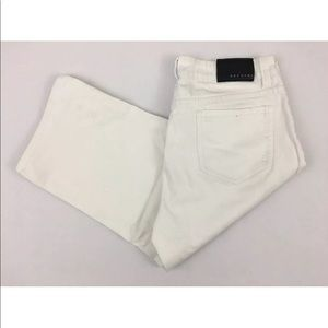 Baccini White  Stretch Capri/Cropped Jeans sz 8T-4